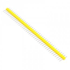 Вилка штыревая PLS-40 (DS1021-1x40), прямая желтая купить