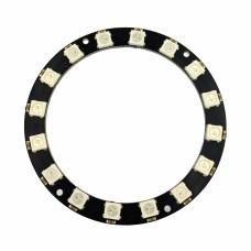 Модуль из 16 RGB светодиодов WS2812 (кольцо)