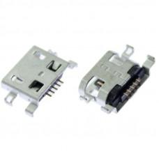 Разъем micro USB type B female SINK 0.8 DIP 5P