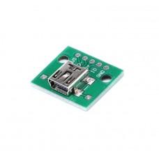 Mini USB гнездо плата-переходник (Breakout)