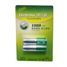 Аккумулятор Ni-MH Delipow R6 AA 1.2В 1300 мАч