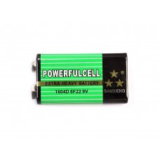 Батарейка Крона Powerfulcell 1604D 6F22 9В