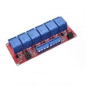 Модуль реле 5В 6-каналов электромеханическое с опторазвязкой