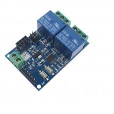 Модуль двухканального электромеханического реле 5В под модуль Wi-Fi ESP-01